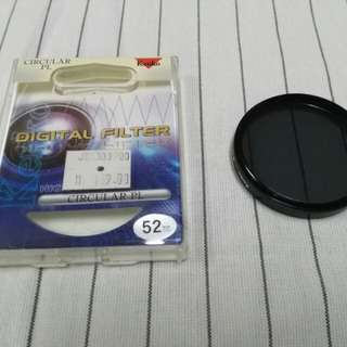 Kenko Circular Polarizer. 52mm size filter