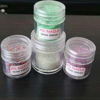 Nails Art Caviar Beads / Velvet Fur