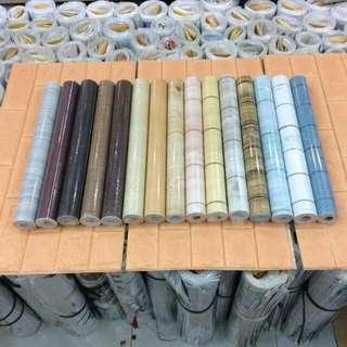 Adhesive Wallpaper (Wooden Design)