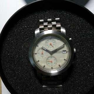 全新TIMESTONE米色面防水綱手錶