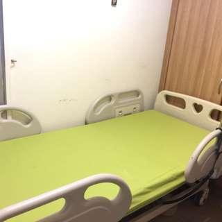3 crank hospital bed with mattress, 6mths