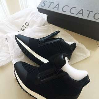 ORI STACCATO BLACK SHOES