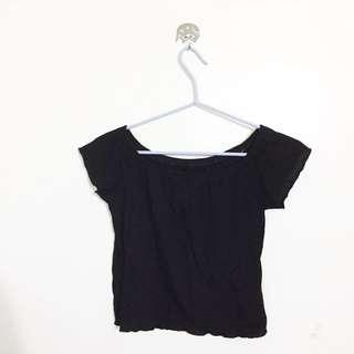 Black Off-shoulder Top