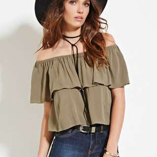 BNWT All About Eve wide elastic band off shoulder top