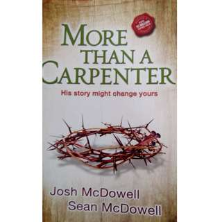 Free! More Than a Carpenter by Josh McDowell