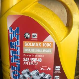 Solmax engine oil 15-40w