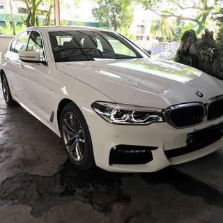 Wedding car rental bmw 5 series Msport 2018