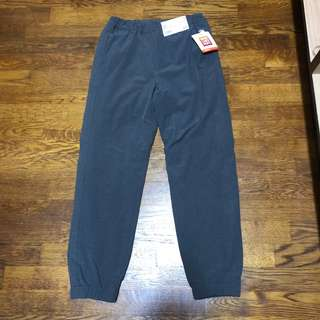 Brand new Uniqlo kids dark grey warm lined fleece pants for boy and girl