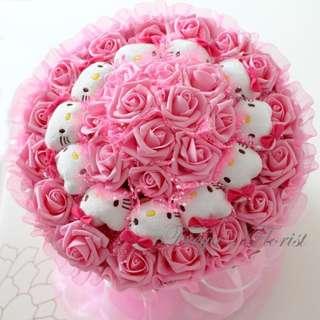 27 Apple Of My Eye Hello Kitty Soft Toy Flower Bouquet Valentine Day