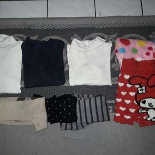 Girls Tshirts / Tight Pants / Seluar / Baju Combo Set