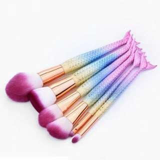6pcs mermaid tail brushes