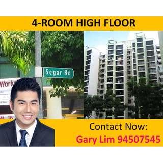 High Floor 4RM HDB for Sale