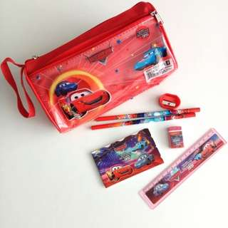 Disney Cars Stationery Set with Pencil Case