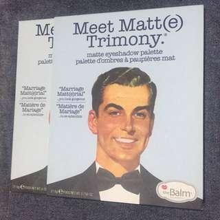 The Balm Meet Matte Trimony Eyeshadow (Preloved)