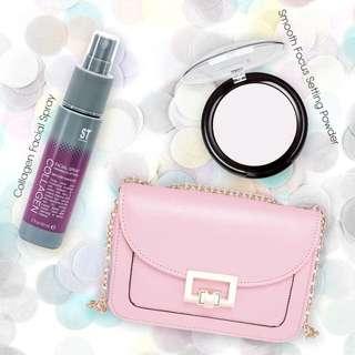 Collagen Facial Spray, Setting Powder