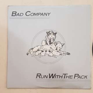 "Bad company (Run with the pack )12"" vinyl record"