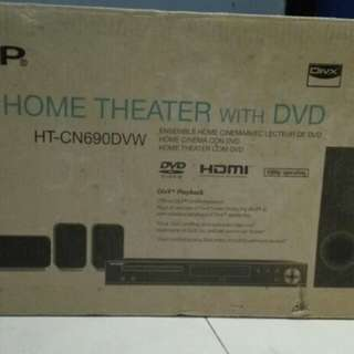 HOME THEATRE WITH DVD (SEALED IN BOX BRAND NEW(SHARP)