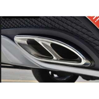 MB Dual Exhaust Muffler premium Cover Trim ABCE