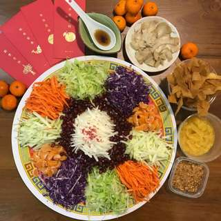 🌸🍊🏮Homemade Yee Sang (Vegetarian)