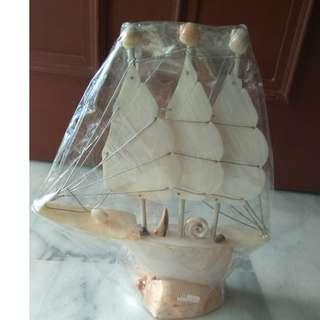 Hand made seashell sail / boat