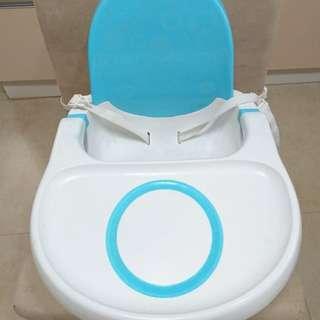 Fisher Price 費雪 多功能寶寶餐椅 椅背可放濕紙巾 藍色