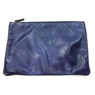 Jil Sander Leather Navy Clutch