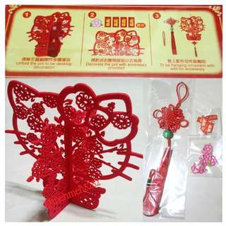 Hello kitty chinese new year deco