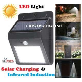 Super Bright - Solar Lights Motion Light Sensor Security Auto On LED Lamp