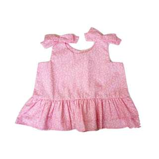 Little Pink Flowers Ditsy Sleeveless Top (12-36M)
