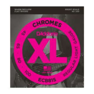 D Addarion Bass Strings - ECB81S Chromes Bass, Light, 45-100, Short Scale