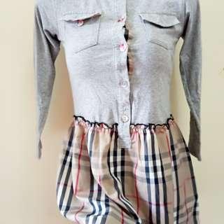 Burberry dress anak