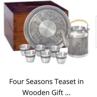 Four Season Tea Set in wooden gift box