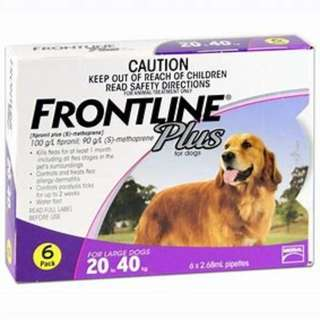 Frontline Plus 6 applications for Dogs (20kg to 40kg)