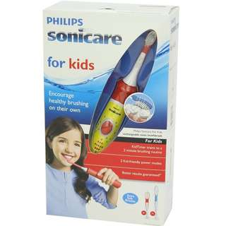 Philips Sonicare Hx6311/02 Sonicare For Kids Rechargeable Electric Toothbrush + Brand New Extra Brush Heads