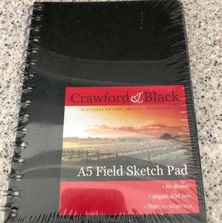 Crawford & Black A5 sketch pad