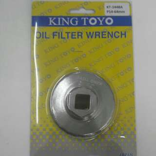 KING TOYO Oil Filter Wrench - P14-64mm