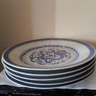 vintage 1940 s 5 plates