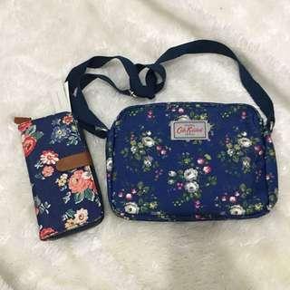 Cath Kidston Sling Bag w/ Wallet