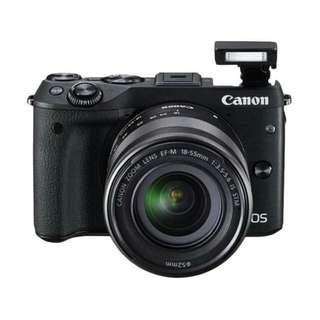 Bisa Kridit Canon EOS M3 Kit 15-45mm Tanpa Kartu Kridit Proses Cepat
