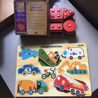 Wooden Puzzle, old school