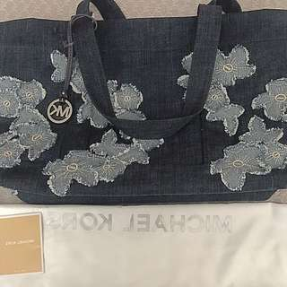 Authentic Michael Kors XL denim tote