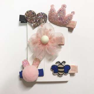 Little Girl hair clips set