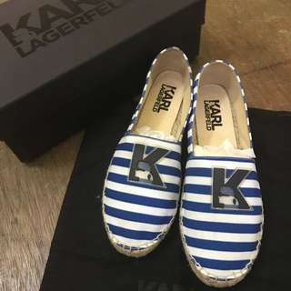 Authentic and Brand New! Karl Lagerfeld Espadrilles