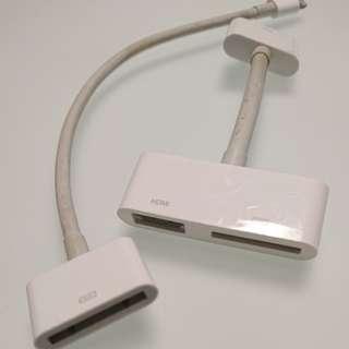(包送貨)Apple 40針-HDMI, 40針-Lightning轉換器Adaptor