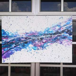 Fluid abstract canvas artwork