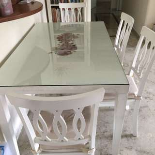 White Dining Set for sale