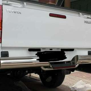 Stainless steel front & back safety guard