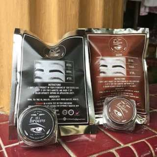 Hi-brow henna eyebrow tints