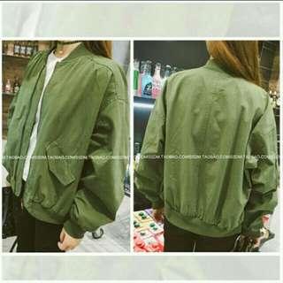 Army Green Bomber Jacket #under90