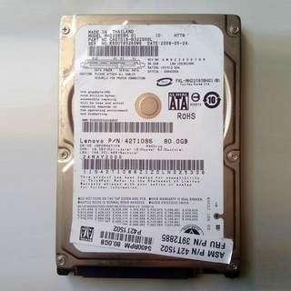 2.5 inch 80GB SATA HDD